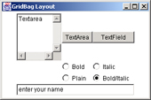 GridBag Layout Manager trong java